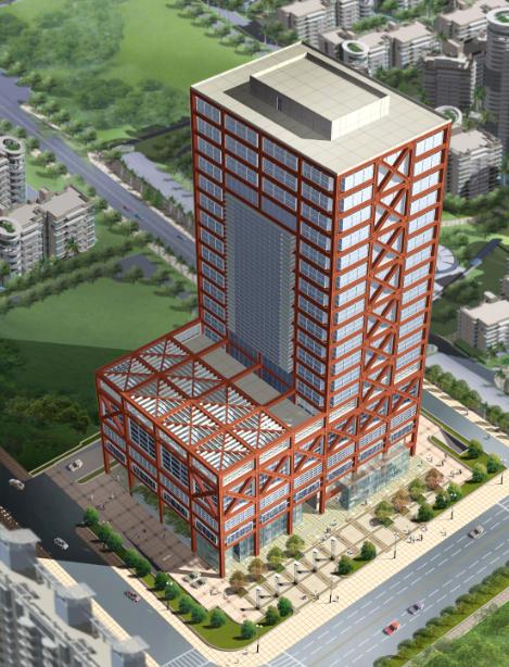 高层现代风格培训教育中心建筑设计方案文本