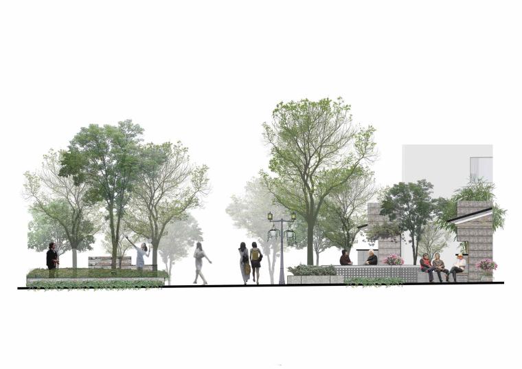 社区改造下沉广场景观方案设计文本(SU模型)_3