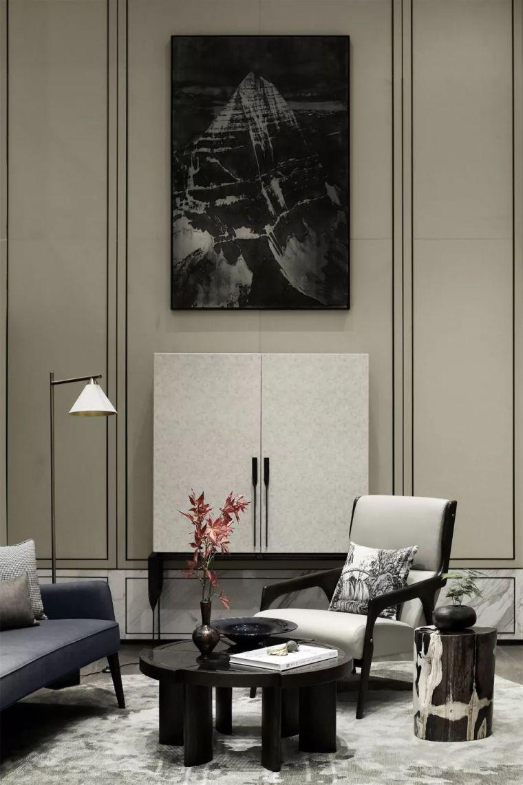 质朴材质也能构建空间气质,顶级别墅样板间设计_20