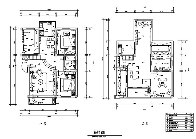 简美风格王府别墅设计施工图(附效果图)