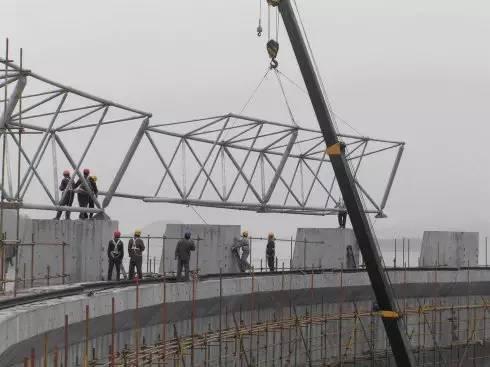 钢结构网架的三种施工方法钢构