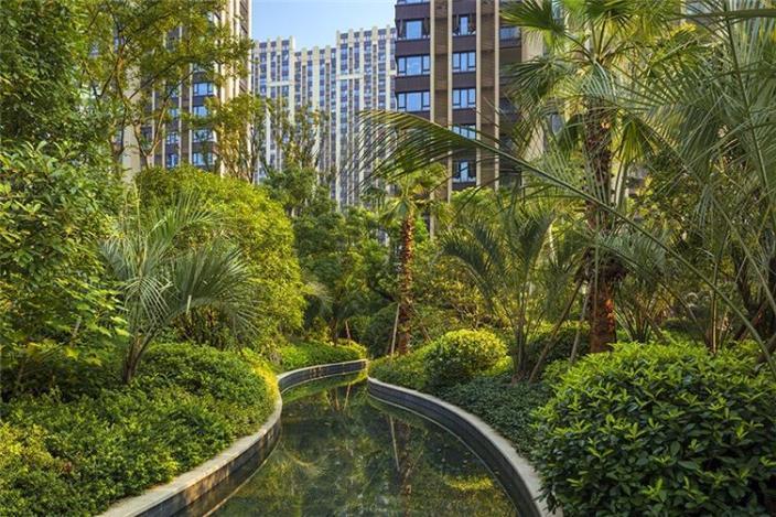 杭州融创瑷颐湾住宅景观的实景图 (5)