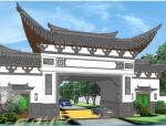 中式风格门楼设计方案SU模型