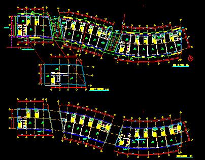 高层圆形平面造型广场归档施工图_5