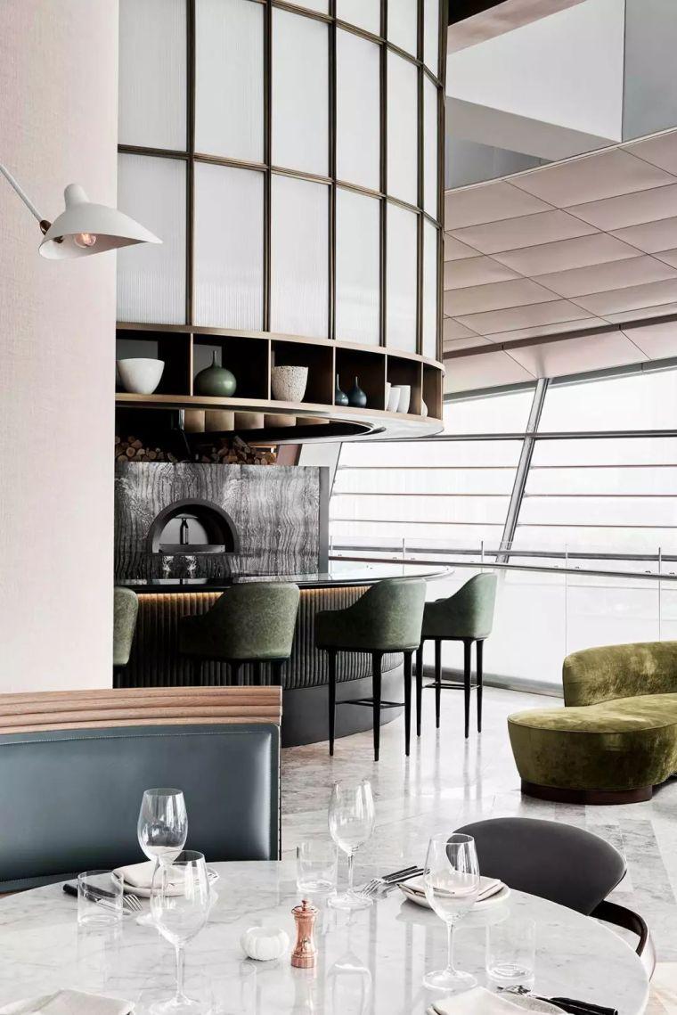 迪拜地标旁的2000平米超大餐厅,精致细节成就奢华设计_13