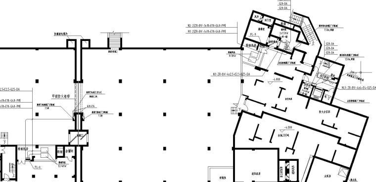 地下室连通口施工缝堵漏资料下载-某小区高层地下室电气施工图