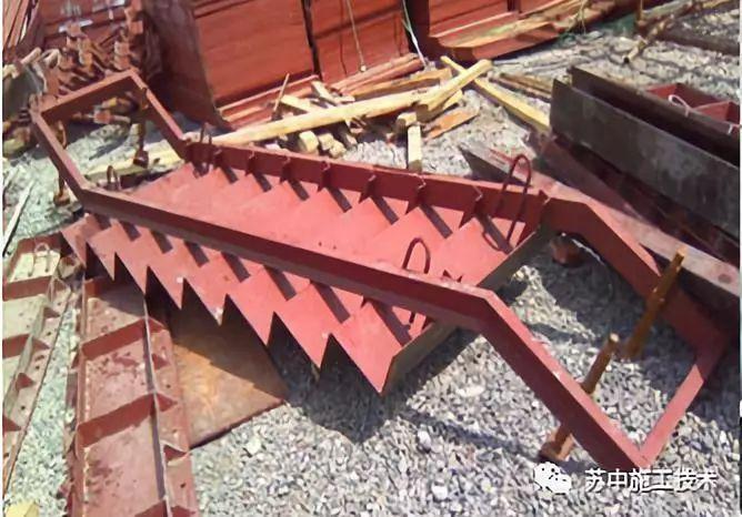 楼梯踏步定型钢制模板施工技术