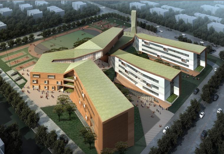 [上海]现代风格南桥新城小学建筑设计方案文本