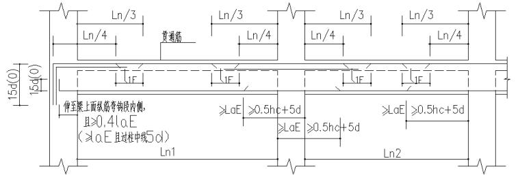 异形柱整套框架结构施工图(CAD,14张)_3
