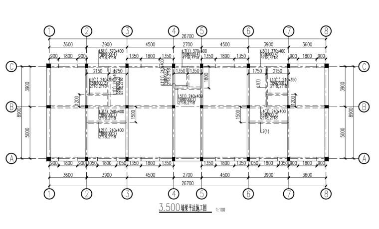 两层砖混结构厂房结构施工图