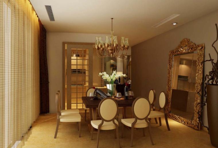 [四川]成都现代古典达观山A户型室内设计方案