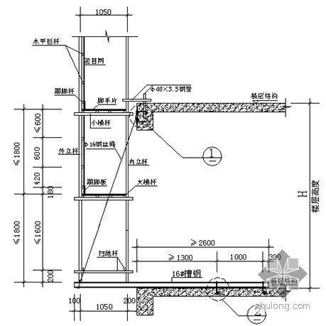 合肥某框剪结构高层外脚手架施工方案(落地式、悬挑式)