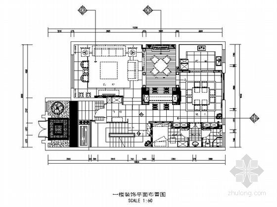 [江苏]中式风格三层别墅室内装修施工图(含实景)