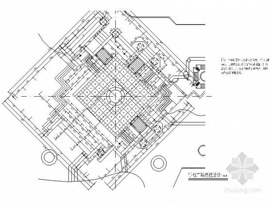 某旱喷广场景观规划设计施工图