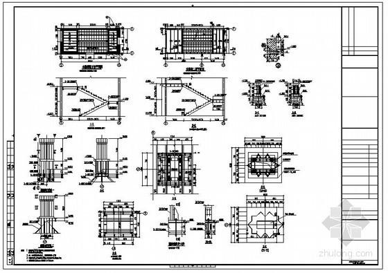 某别墅钢结构楼梯及钢烟囱节点构造详图