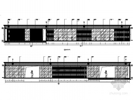 [福建]豪华游艇会所SPA装修设计施工图前厅立面图