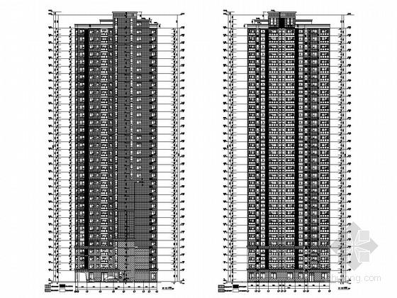[湖北]33层剪力墙限价商品住宅楼结构图(含建筑图)