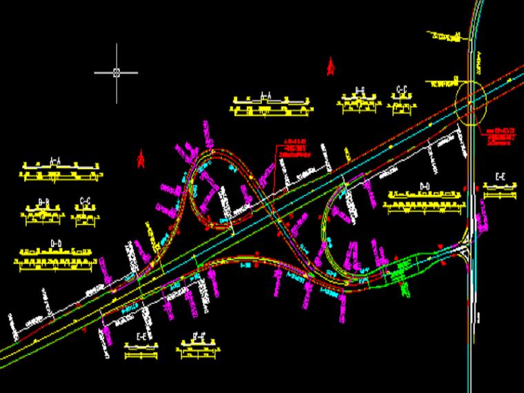 城市道路与立体交叉之立体交叉设计实例(24页)
