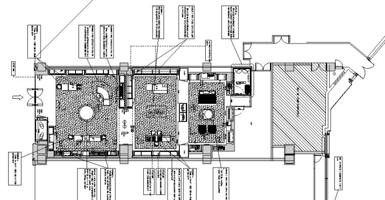 奢华品FENDI设计施工图(附效果图+新理念设计手册+物料表)-地面铺装图