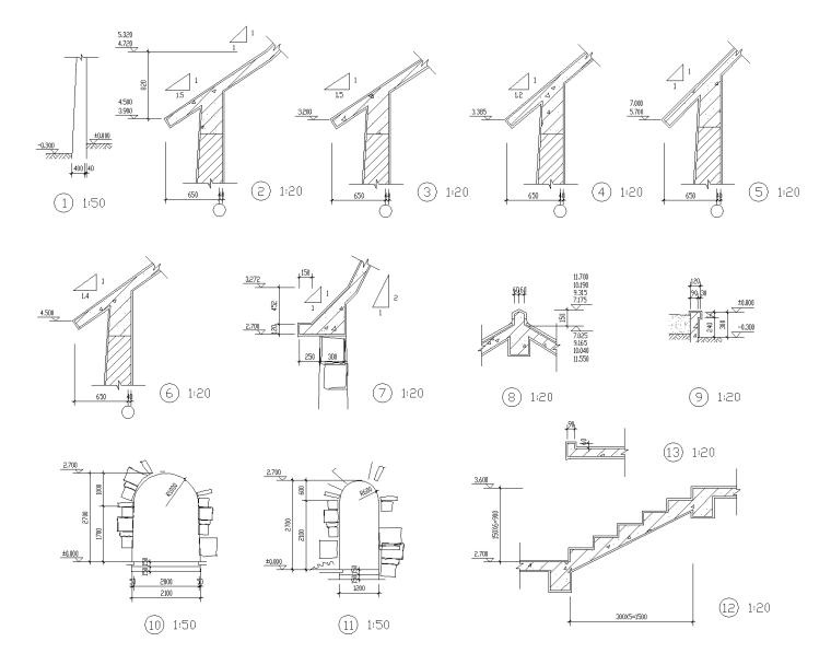 特色园林景观建筑设计施工图-艺术钟楼 3