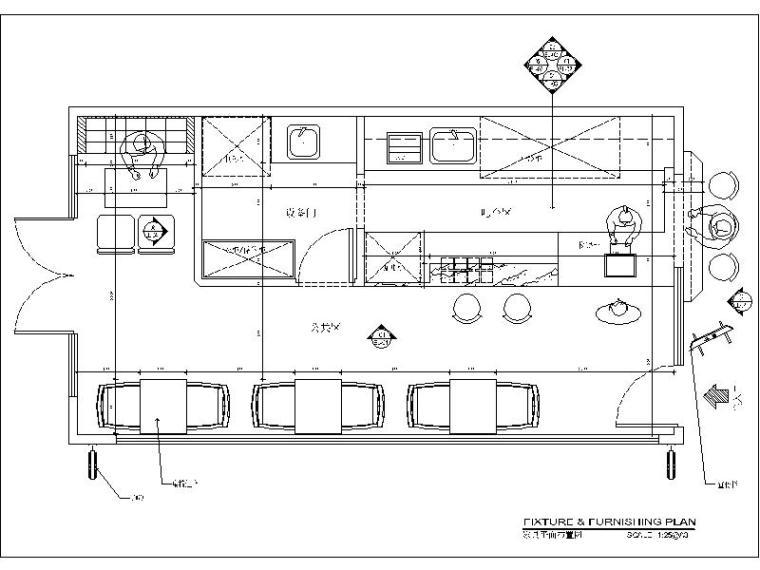 一套個人作品奶茶店設計施工圖(含效果圖)