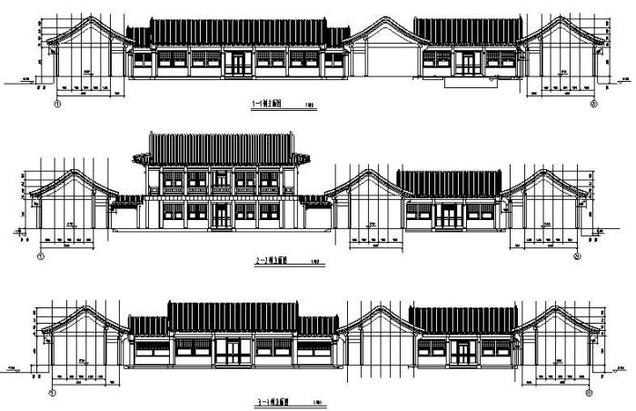 某王府平面及古建筑CAD图纸