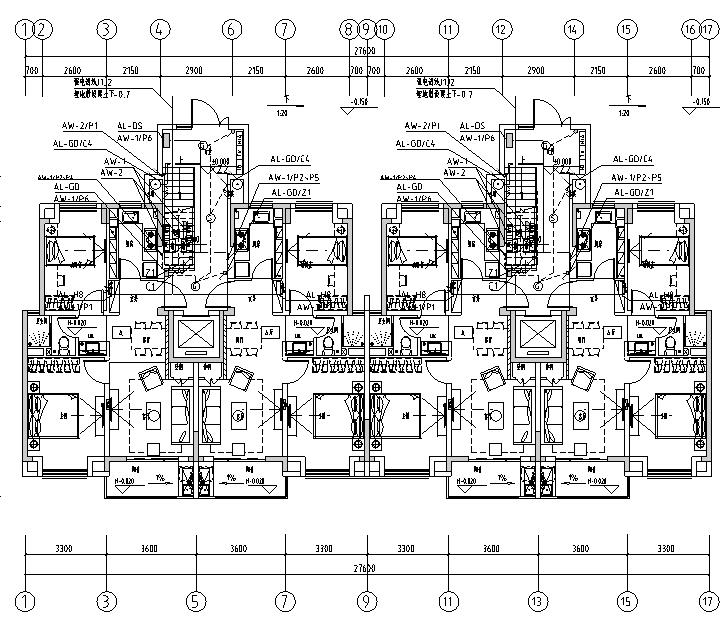 上海安亭新镇商品住宅项目施工图纸