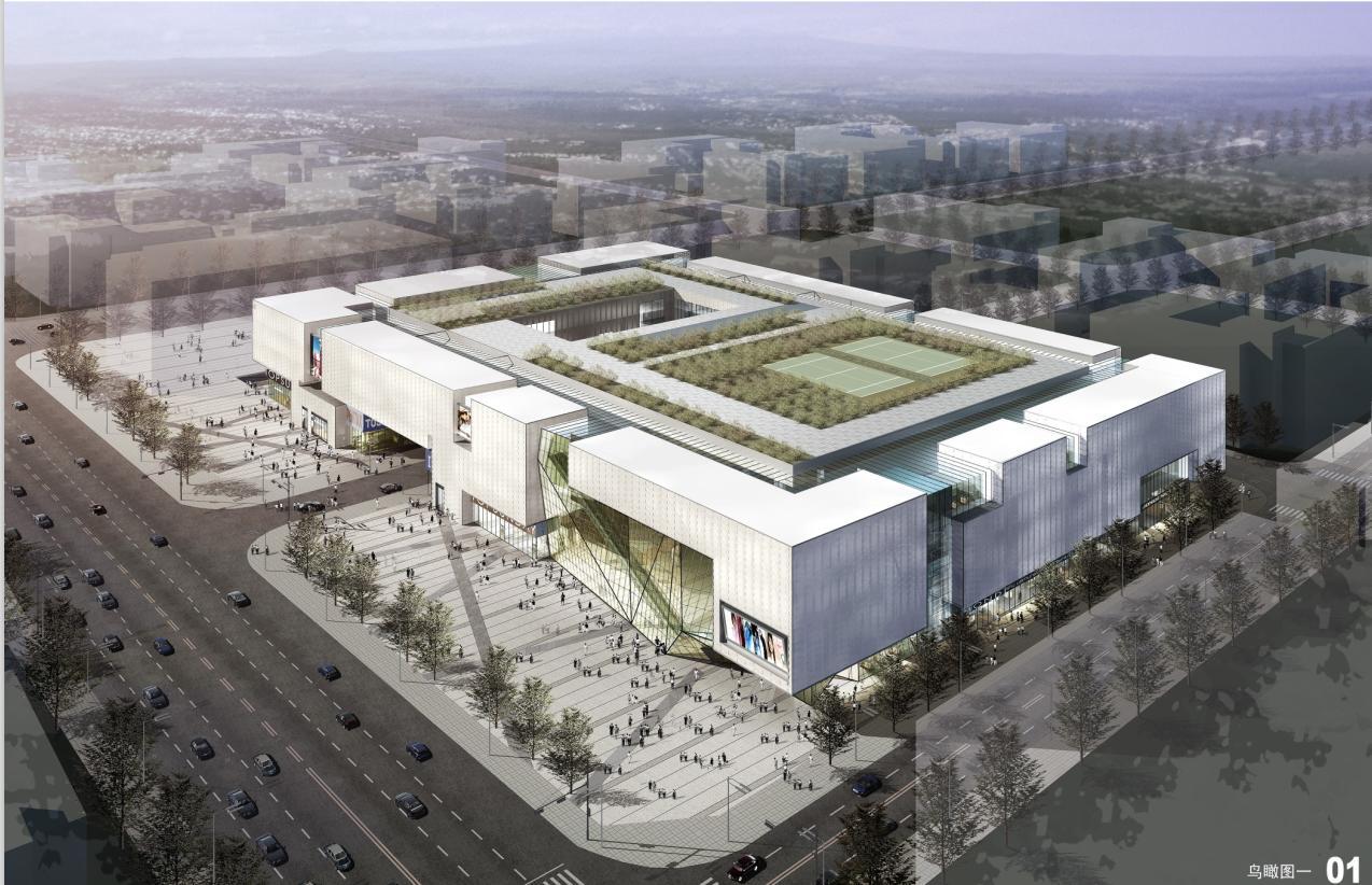 [陕西]现代折线机械玻璃幕墙中高档风格建筑设计图纸方案文本命名中文商业图片