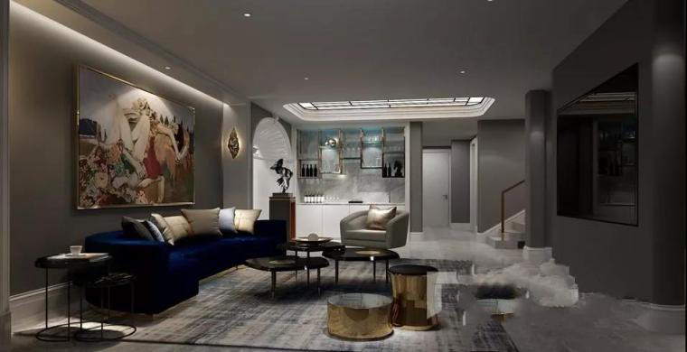 蓝调畅想|400平法式风格别墅设计案例-3.png