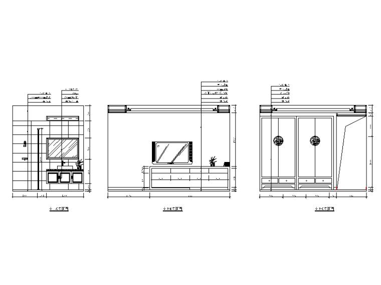 新中式样板房设计CAD施工图(含效果图)_5