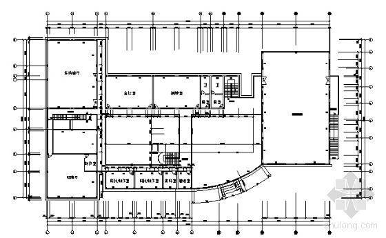 南方某高校大学生活动中心建筑方案图-3