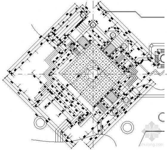 喷泉广场景观施工图