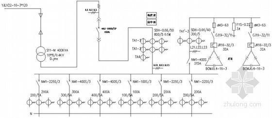 箱式变电站低压配电原理图