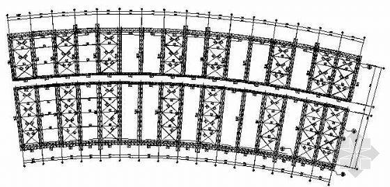 某大型会展中心DE区桁架结构图纸