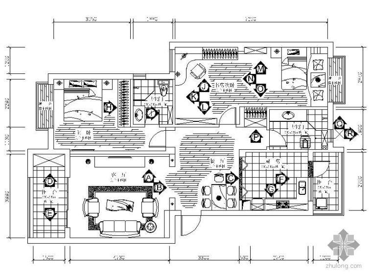 [武汉]某两室两厅设计图