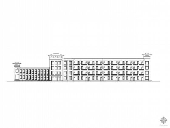 [中山大学]某学院四层教学楼建筑施工图