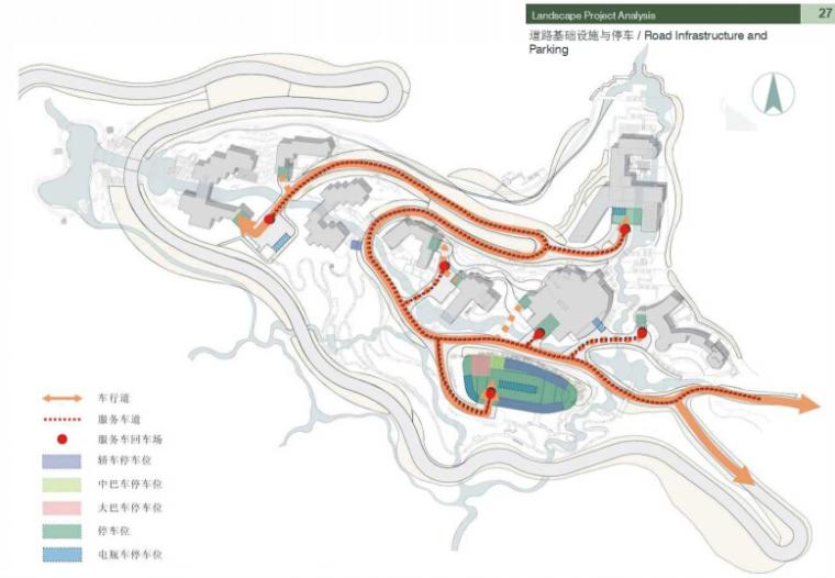 [浙江]知名国际旅游度假村景观方案文本-道路基础设施设计