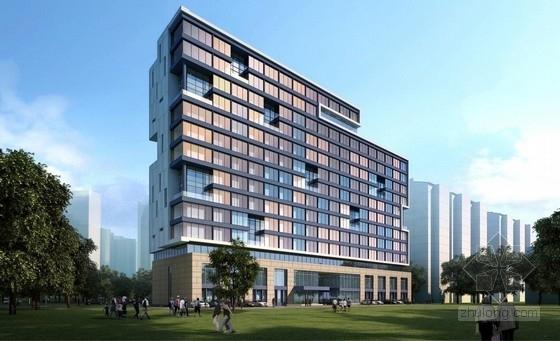 [江苏]多彩外廊开窗式老年公寓建筑设计方案文本(含CAD)-多彩外廊开窗式老年公寓建筑效果图
