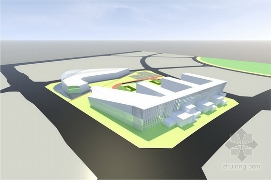 [合肥]学校社区公共绿地景观规划设计方案(七个方案比选)-鸟瞰图
