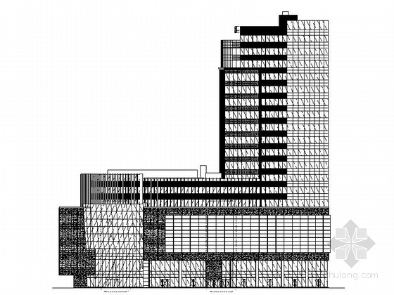 [上海]19层现代风格商业及办公楼建筑设计施工图(国内知名地产)