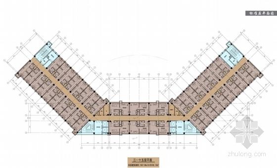 现代风格高层酒店及住宅设计方案平面图
