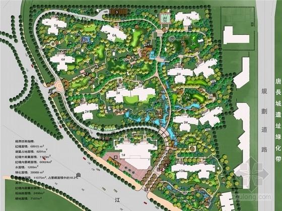 [西安]现代简约典雅风格居住区景观规划设计方案