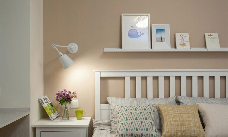 112平米现代简约风格三居室 淡蓝色温馨家!