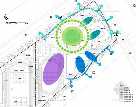 [上海]30班开敞小学式市级外廊重点校园规划设中小学数据大图片