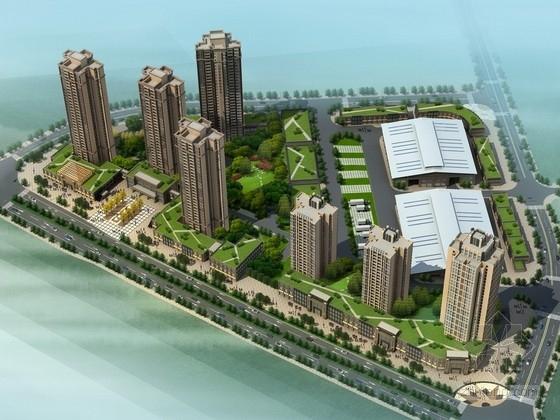 [重庆]现代风格高层住宅区规划设计方案文本(含物流交易中心)
