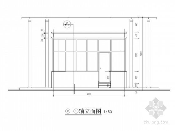 单层钢框架保卫室及围墙结构施工图(含建施)