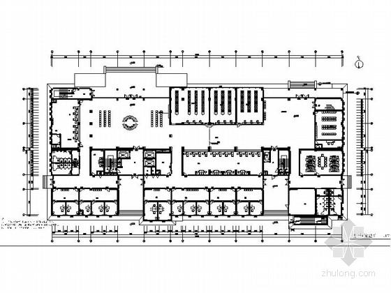 [安徽]大型精神病医院现代病房大楼室内装修施工图