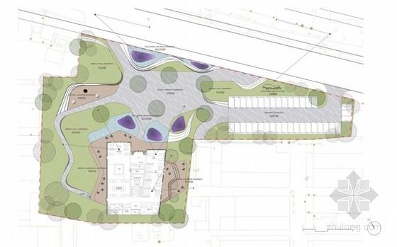 [深圳]绿色生态现代简约风格售楼中心景观概念设计(原创)-平面图二