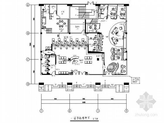 [北京]现代国际化综合金融服务机构支行精装修施工图