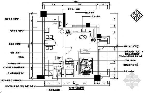 某高级单身公寓装修图